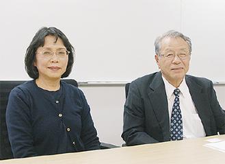平原社長(右)と妻で取締役の紀子さん