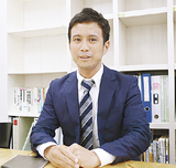 受賞の喜びを語る池田取締役