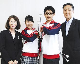 左から飯島代表、山村さん、荒井さん、吉泉区長