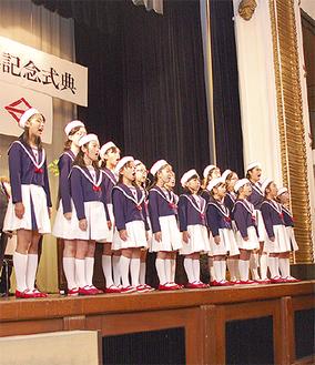 赤い靴ジュニアコーラスの横浜市歌で開会