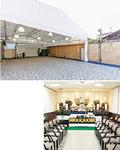 (上)山手本牧地区最大級のお別れスペースを貸切れる(下)葬儀会場はすべてフラットで、広々とした館内は車いすやベビーカーでも安心。子連れや高齢者など、「誰にでも便利で使いやすい施設」を目指している