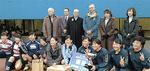 高校の部の優勝チームと横浜中央LCのメンバーたち