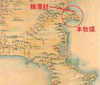 伊能日本実測小図 文化元年(1804)をもとに作成