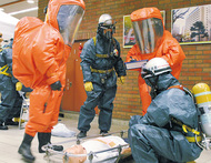 毒物テロ想定の訓練実施