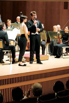 演奏後はバンベルク交響楽団首席指揮者のヤクブ・フルシャ氏が来場者から寄せられた質問に答えた