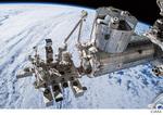 米国の船外活動(EVA)中に撮影された「きぼう」日本実験棟(JEM)の全景