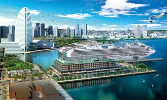 ▶今秋オープン予定の新港地区完成予想図