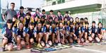 女子硬式テニス部員たち