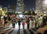 MM(みなとみらい)の夜景眺め盆踊りを