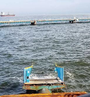 水没した渡桟橋