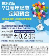横浜支店で年利0・24%上乗せ
