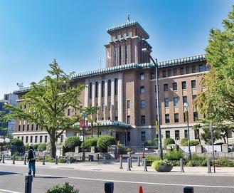 県庁本庁舎正面からの外観(11月1日撮影)