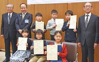小学1〜3年生の部の入賞者