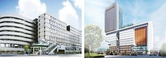 JR横浜タワー(右)とJR横浜鶴屋町ビルの外観イメージ