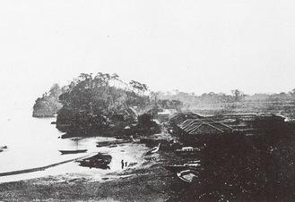 屠牛場 明治3年(1870年)The Far East 横浜開港資料館所蔵