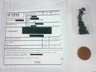 送られてきた種子の一例(横浜植物防疫所提供)