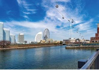 ロープウェイが運行する新港ふ頭を臨む景観イメージ