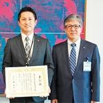 同友会事務局山本さん(左)と城副市長