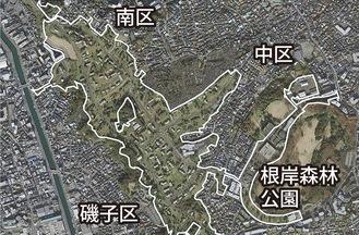 白線内が同住宅地区