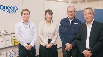 左から熱供給・浅田さん、須崎さん東急コミュニティー・櫻井さん、西村さん
