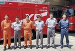 災害現場に派遣された山下町と北方出張所の隊員