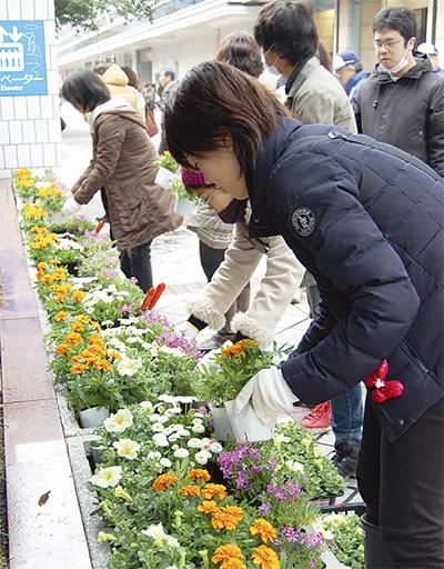 「横浜駅を花いっぱいに」