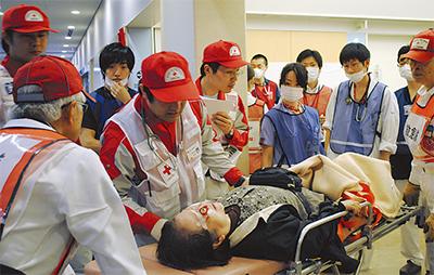病院内で初の大規模訓練