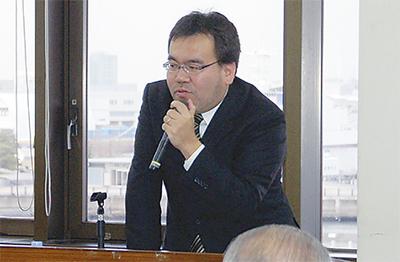海事新聞記者が講演
