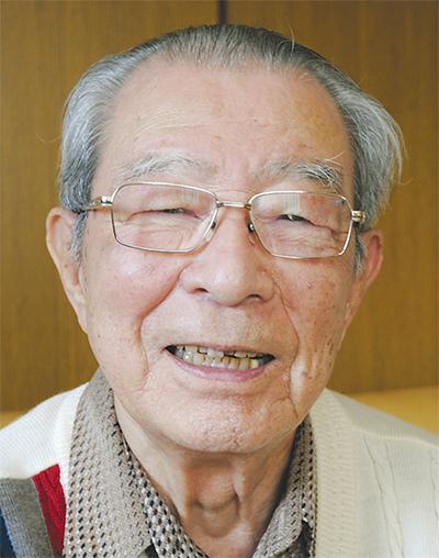 西区連合町内会・自治会連絡協議会の会長に就任した金子 勝雄さん西区御所山町在住 84歳
