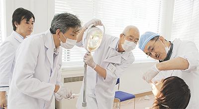 口腔ガンを早期発見