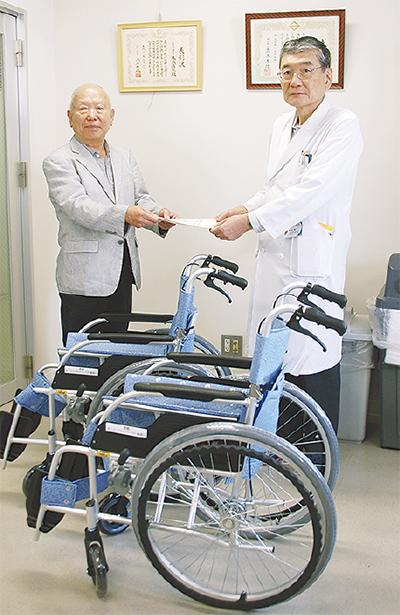 本牧病院に車いす寄贈