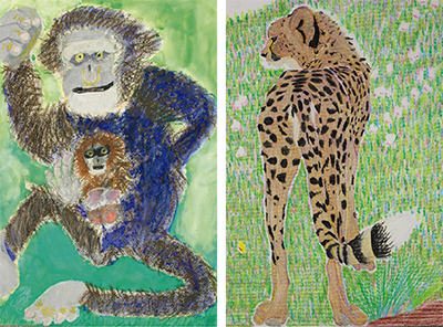 市内3園の動物画コンクール