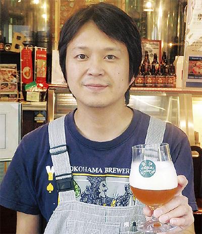 横浜産ホップの地ビール完成