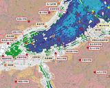 青や緑色の場所が避難対象とされた区域(横浜市「津波からの避難に関するガイドライン」より)
