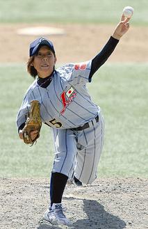 オランダ戦では2回無失点(写真提供:日本女子野球協会)