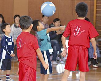 初めてボールに触る子どもも