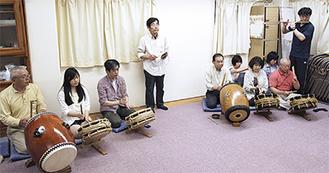 週1回、六ツ川上三自治会館で練習を行う
