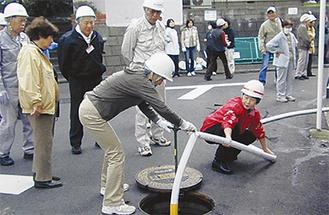 防災訓練も実践的
