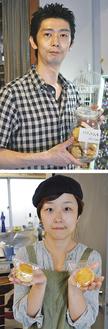 KuKuRuの小林貴徳さん(上)とCHOCOLATの中根恵美さん