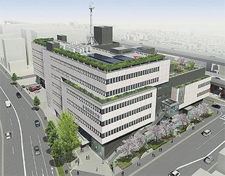市が公表した庁舎と周辺のイメージ