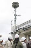 南吉田小の屋上に設置されているスピーカー