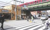 桜の装飾が施される予定の井土ヶ谷駅