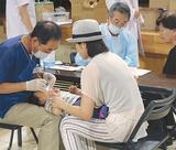 子どもの歯の状態を確認する歯科医