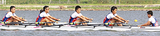 懸命にボートを漕ぐ選手たち(写真提供・横浜商業高校)