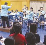 多くの保護者が来場した吹奏楽部の演奏会