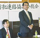 あいさつする高橋会長(右)