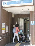 南区プランの目標に掲げられた後、蒔田駅に設置されたたエレベーター