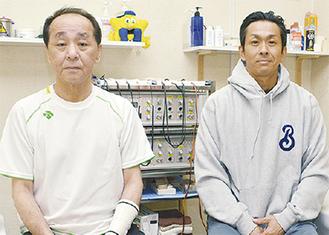 升永雅純院長(左)と雅史さん