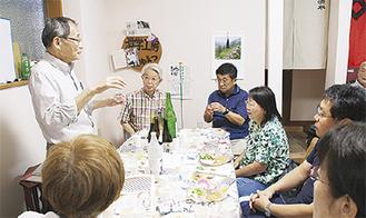 講義する川松さん(左)
