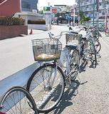 駅前にある放置自転車